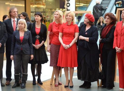 GO RED for women akcija sieviešu sirds veselībai